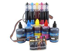 Cisinks ® Continuous Ink Supply System With Ink Bottle Set for Epson Expression Premium XP-600 XP-800 XP-610 XP-810 XP-520 XP-820 XP-620 Printers CISS CIS