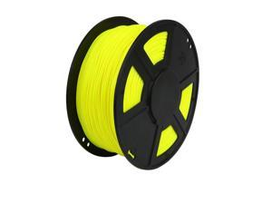 WyzWorks® 3D Printer Filament 1.75mm ABS Fluorescent Yellow 1kg/2.2lb RepRap MarkerBot