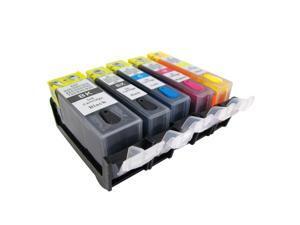 Cisinks ® Refillable Ink Cartridge SET for Canon PGI-225 CLI-226 Cartridge Pixma MG5120 MG5200 MG5220 MG5220 RFB MG5320 IX6520 MX712 MX880 MX882 MX892 IP4920 IP4820