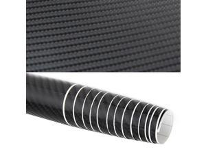 "4D Gloss Black Carbon Fiber Vinyl Wrap - Car Sticker Big Texture - 80"" x 60"""