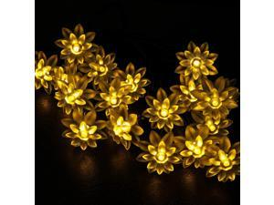 WYZworks Solar Fairy String Lights 20 LED LOTUS - Warm White