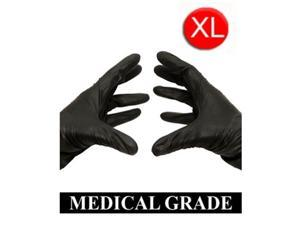 1000 Black Medical Examination Nitrile Powder-Free Gloves 5 Mil Size: Xlarge