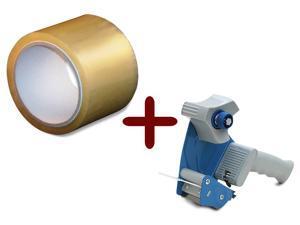 "Clear Packing Tape 3"" x 110 Yards 24 Rolls 2 Mil + Free 3 Inch Tape Gun Dispenser"