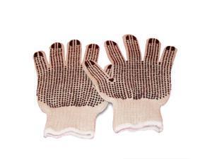 PVC Double Dot Work Gloves Economy For MEN Large 20 Dozen = 240 Pairs