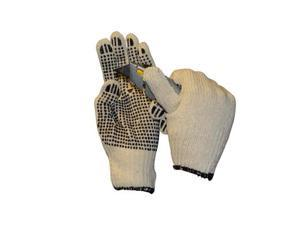 PVC Dot Gloves Single Side Work Safety Dotted 5 Dozen = 60 Pairs