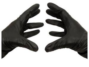 Disposable Black Nitrile Powder Free Industrial Gloves 3.5 mil 2X-Large 100 pcs = 1 Box