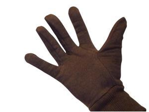 Brown Jersey Work Gloves Economy Small for WOMEN 25 Dozen = 300 Pairs