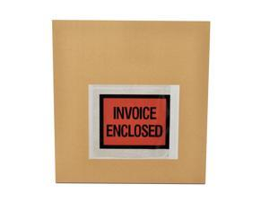 "4.5"" x 5.5"" Invoice Enclosed Envelope Self-Adhesive Bags Shipping Full Face 8000 pcs = 8 Cases"