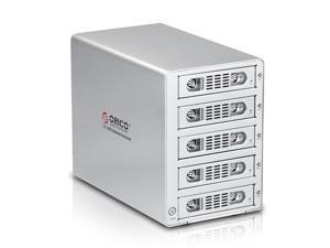 "ORICO 3559UI3 Full Aluminum Tool Free 5 Bay Firewire 800 1394b & Firewire 400 1394a & USB 3.0 & eSATA 3.5 "" SATA Hard Drive ..."