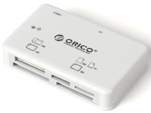 ORICO 8566C3-WH All-in-One USB 3.0 Super Speed Card Reader / Writer / Adapter - White