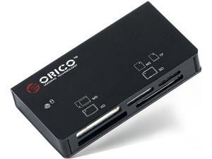 Orico 6566C3-BK Aluminum All-in-1 USB 3.0 Flash Memory Card Reader / Writer / Adapter
