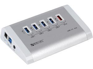 Orico Bokcore BC-U3H5-SV Full Aluminum 4-Port USB3.0 HUB with 3Ft USB3.0 Cable - White