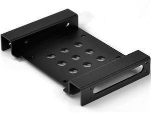 "ORICO AC52535-1S-BK  Aluminum 2.5 "" & 3.5 "" SATA or IDE HDD or SSD to 5.25 Bracket 2.5 to 5.25 or 3.5 to 5.25 Hard Drive Bay Converter Mounting Bracket Adapter"