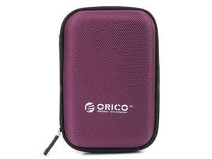 ORICO 2.5 inch Portable External Hard Drive Protection Bag Dual Buffer Layer HDD Protector Case - Purple(PHD-25)