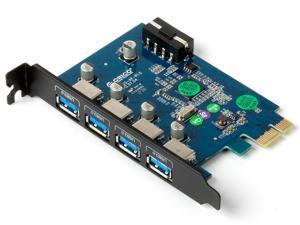 ORICO 4 - Port USB3.0 PCI - Express x 1 Controller Card Adapter , Mini PCI - E Card ( PEJU3-4P )
