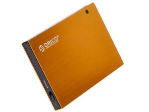 ORICO Tool Free  USB 2.0 To 2.5-Inch e-Sata Aluminum Hard Drive Enclosure Case- Orange (2595SUS )