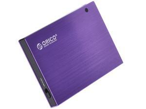 "ORICO 2595SUS Tool-free HDD] 2.5 Inch USB 2.0 Hard Drive Disk HDD External Enclosure Case for 9.5mm 2.5"" SATA HDD and SSD - Purple"