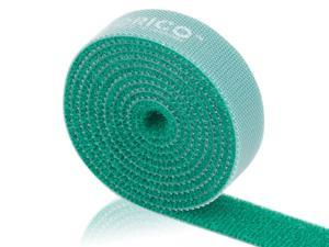 ORICO CBT-1S 3.3 Ft/1 M Reusable & Dividable Hook and Loop Velcro Cable Tie - Green