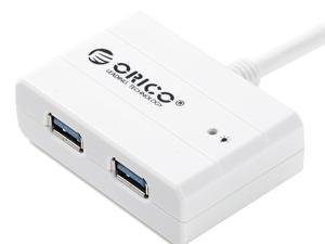 ORICO DEU3-2P USB 3.0 2 Port Hub Build-in USB 3.0 Cable - White