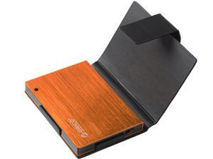 ORICO Ultra Slim 2.5-Inch SATA to USB 3.0 External Aluminum Screwless Hard Drive Enclosure with Sleeve - Orange