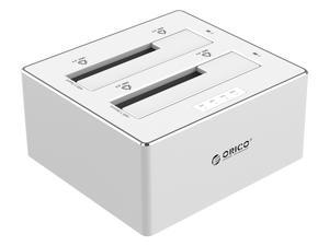"ORICO 6828US3-C Aluminum & Plastic SATA to USB 3.0 Hard Drive Docking Station with Stand Alone Clone Function for 2.5"" & 3.5"" HDD/SSD, Maximum 8TB - Silver"