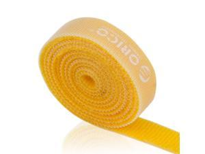 ORICO CBT-1S 3.3 ft / 1 Meter Reusable & Dividable Hook and Loop Velcro Cable Ties - Orange
