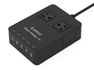 ORICO HPC-2A5U 2 Outlet Power Strip w/ Surge Protector
