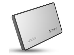 ORICO 2588US3 2.5-Inch SATA to USB 3.0 Tool-Free External Enclosure / Case for 9.5mm & 7mm SATA HDD SSD - Silver