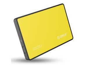 ORICO 2588US3 2.5-Inch SATA to USB 3.0 Tool-Free External Enclosure / Case for 9.5mm & 7mm SATA HDD SSD - Yellow