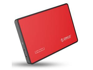 ORICO 2588US3 2.5-Inch SATA to USB 3.0 Tool-Free External Enclosure / Case for 9.5mm & 7mm SATA HDD SSD - Red