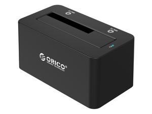 "ORICO SuperSpeed USB3.0 & eSATA to SATA External Hard Drive Docking Station for 2.5"" & 3.5"" HDD, SSD Enclosure 12V2.5A Power Adapter and eSATA Data Cable Included [Support 8TB] - Black (6619SUS3-US)"