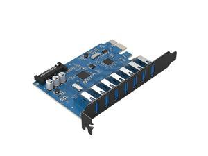 ORICO 7 Ports USB 3.0 PCI Express Card - Interface USB 3.0 5-Port Add On Cards and 2 Rear USB3.0 Port Express Card for PC Desktop  Do not Support Mac System (PVU3-7U)