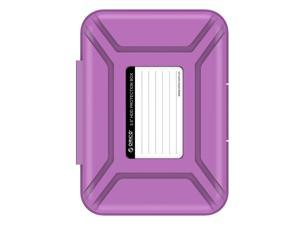 "ORICO 3.5-inch HDD Protector, Ultimate Villa For 3.5"" Hard Disk Drive , 3.5 Inch Protective Box/Storage Case, Anti-Static/Anti-Drop/Anti-Shake/Water Resistant/Dust Resistant Case - Purple (PHX-35)"