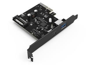 ORICO PA31-AC 10Gpbs 2 Port PCE-Express to USB3.1 Type-A & USB3.1 Type-C Card ,15 Pin Power Connector Express Card for Desktop Windows XP, Vista, 7, 8, 8.1, 10, Mac OS and Linux- Black