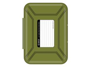 "ORICO PHX-35 3.5-inch HDD Protector, Ultimate Villa For 3.5"" Hard Disk Drive, 3.5 Inch Protective Box/Storage Case, Anti-Drop/Anti-Shake/Water Resistant/Dust Resistant Case - Olive Green"