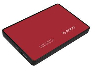 "ORICO 2588US3 Tool Free 2.5-Inch SATA to USB 3.0 Hard Drive Disk HDD External Enclosure Case for 9.5mm 7mm 2.5"" SATA HDD and SSD up to 2TB - Red"