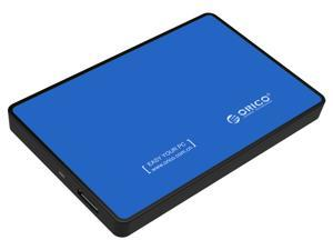 "[Support UASP Protocol]  ORICO Tool Free 2.5 Inch SATA to USB 3.0 Hard Drive Disk HDD External Enclosure Case for 9.5mm 7mm 2.5"" SATA HDD and SSD up to 2TB- Blue (2588US3)"