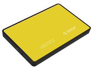 "ORICO 2588US3 Tool Free 2.5-Inch SATA to USB 3.0 Hard Drive Disk HDD External Enclosure Case for 9.5mm 7mm 2.5"" SATA HDD and SSD up to 2TB - Orange"