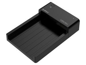ORICO Tool Free 2.5 & 3.5 inch USB 3.0 to SATA External Hard Drive Enclosure HDD SSD Docking Station [8TB Drive Max] Upgraded Version Support SATA III UASP- Black ( 6518US3-V1-US )