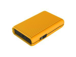 "ORICO USB3.1 Gen2 TYPE-C 3.5"" 3TB 10Gbps High-Speed Shockproof Portable External Hard Disk Drive SATA III 6Gb/s Hard Disk HDD with Silicone Protective Case HDD Desktop Mobile (MS3530)-Orange"