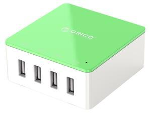 ORICO CSK-4U 30W 4-Port Family-Sized Desktop USB Charger with 2 Prong Power Cord for iPhone 6 6 Plus 5 5C 5S, iPad Air Mini, Galaxy S4 S5, Note 2 3, HTC One (M8), Nexus and More - Green