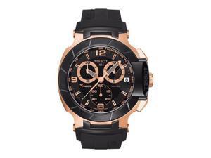 Tissot Quartz T-Race Red Strap Black Chronograph Dial Men's Watch T048.417.27.057.06