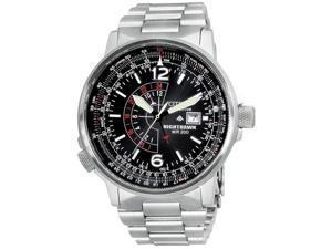 Citizen Quartz Eco Drive Nighthawk Stainless Steel Men's Watch CZ BJ7000-52E