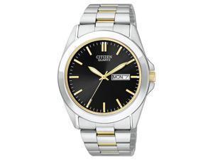 Citizen Quartz Day Date Black Dial Men's Watch - BF0584-56E