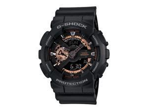 Casio G Shock Black / Rose Dial Men's Watch - GA110RG-1A
