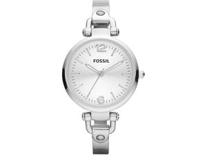 Fossil Georgia Silver Dial Stainless Steel Ladies Watch ES3083