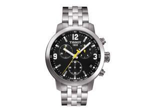 Tissot Steel Strap Black Dial Men's Quartz Watch - T055.417.11.057.00