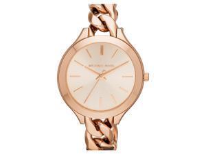 Michael Kors MK3223 Slim Runway Twist Rose Dial Rose Gold-Tone Women's Watch