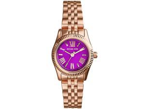 Michael Kors Lexington Quartz Purple Dial Women's Analog Watch #MK3273