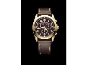 Victorinox Infantry Chronograph Brown Dial Brown Leather Strap Mens Watch 241647